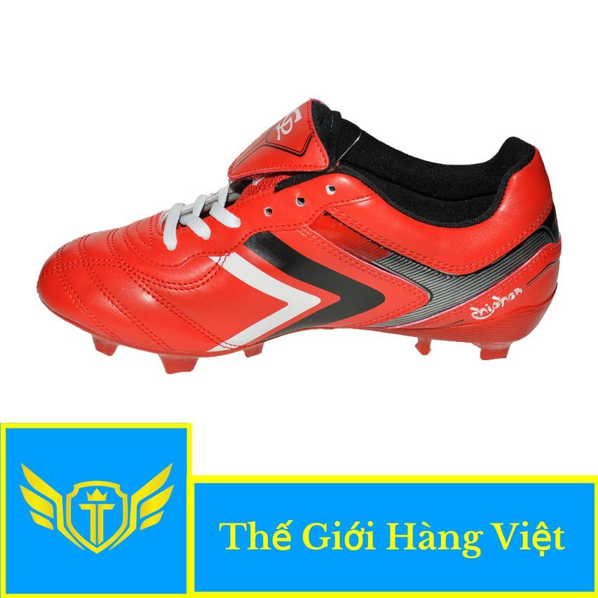 Giày Đá Bóng Sân Cỏ Tự Nhiên 054TN (Đỏ)