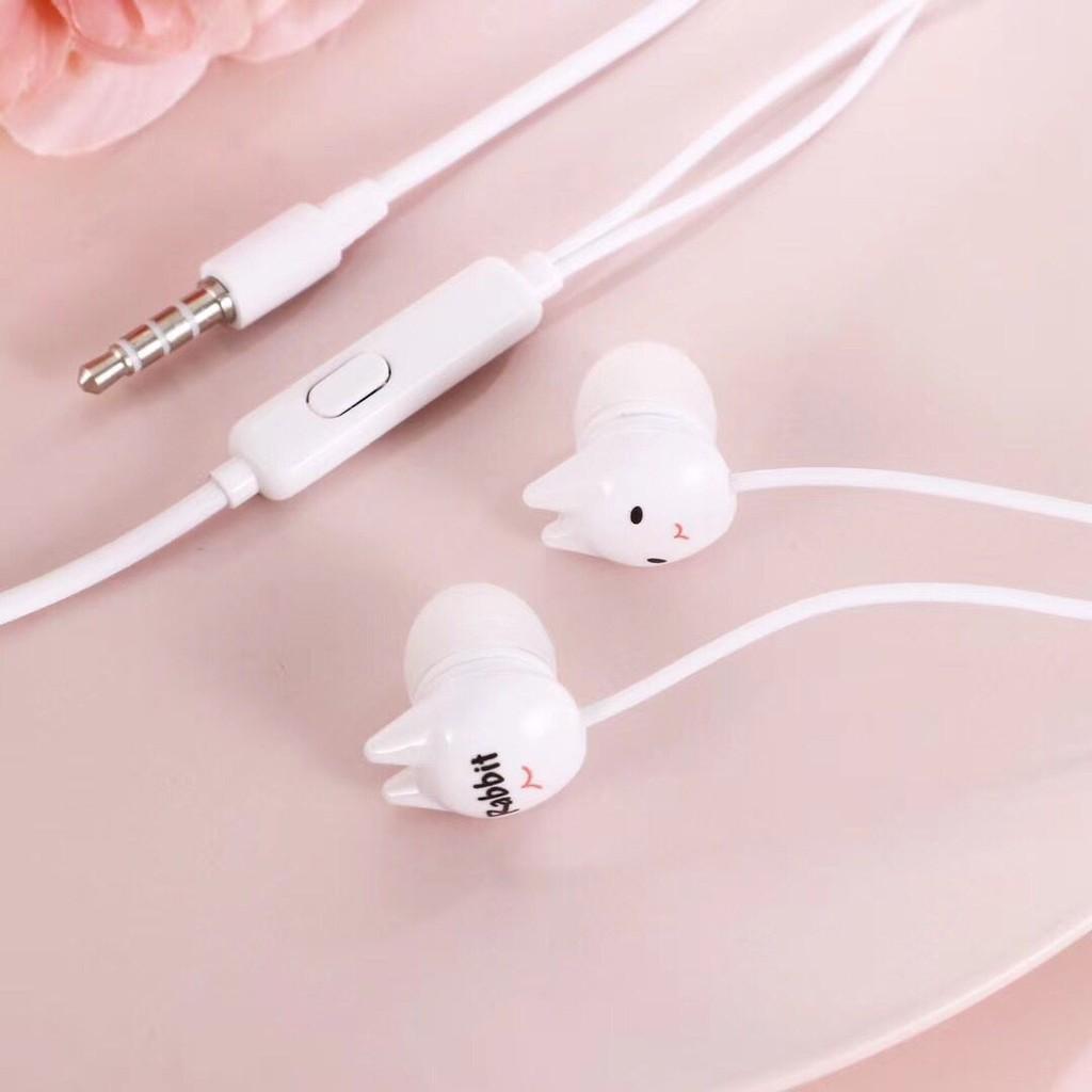 Tai nghe thỏ kute nhiều hình dễ thương / Tai nghe in - ear nhiều mẫu/ tai nghe nhét tai tiện lợi nhỏ nhắn