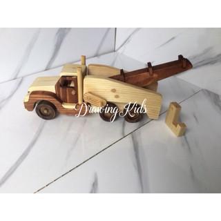 Đồ chơi gỗ – Xe cẩu hàng -M02