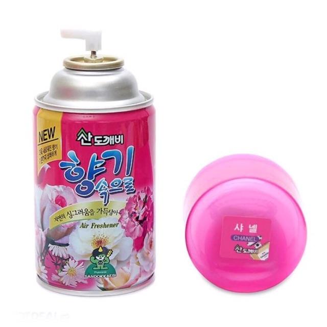 Bình xịt khử mùi xe ô tô hương cafe hàng hàn quốc - nước hoa xịt thơm ô tô Cao Cấp Sandokkaebi Korea 300ml