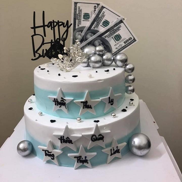 Tiền Đô trang trí bánh kem, phụ kiện bánh sinh nhật