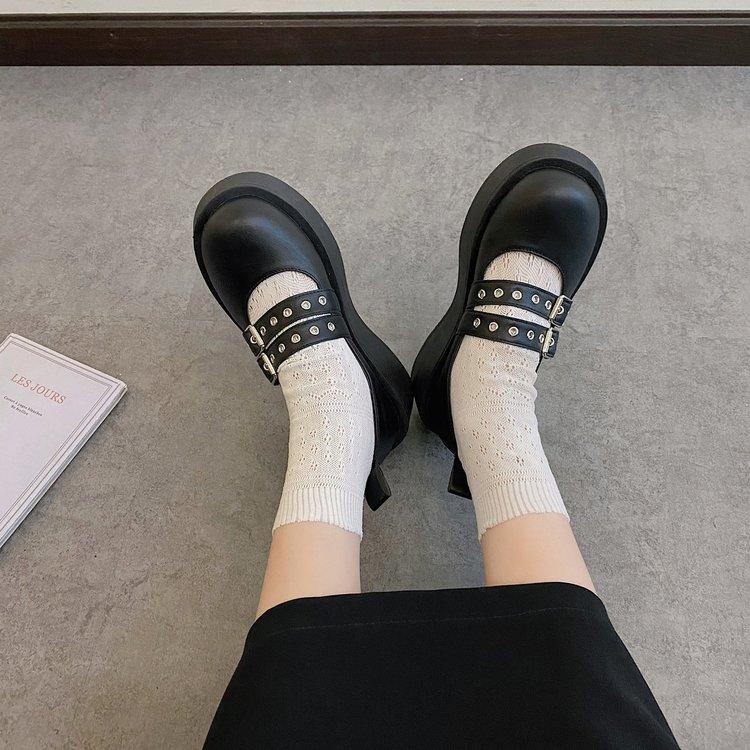 Giày Lười Da Đế Dày Thời Trang Dành Cho Nữ