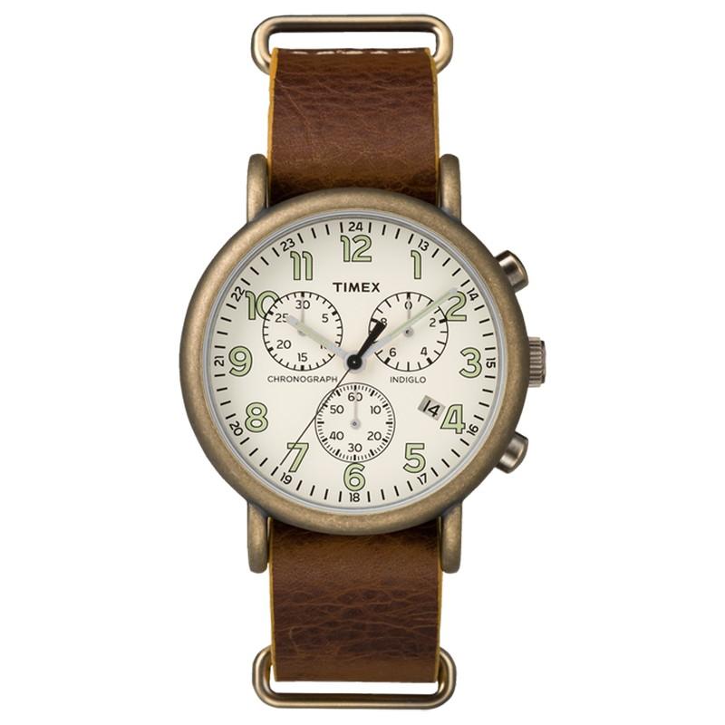 Đồng hồ Unisex Timex Weekender TW2P85300 dây nâu