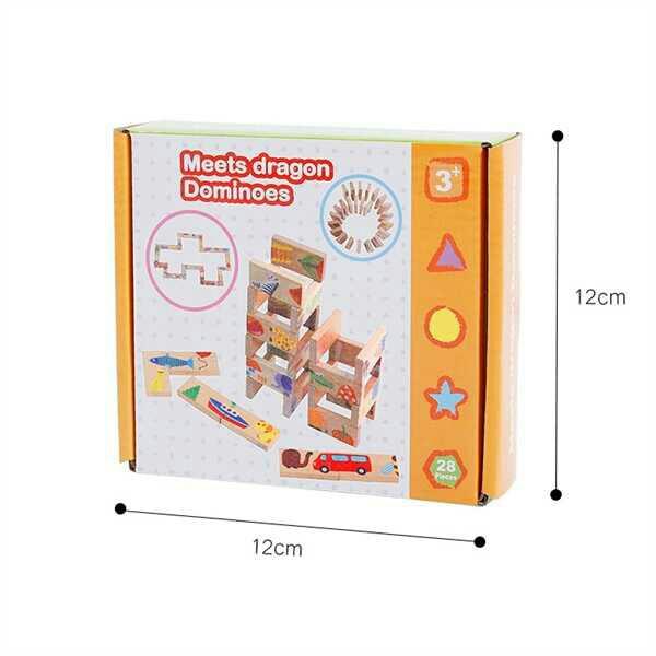Đồ chơi xếp hình gỗ domino kích thích sáng tạo cho bé