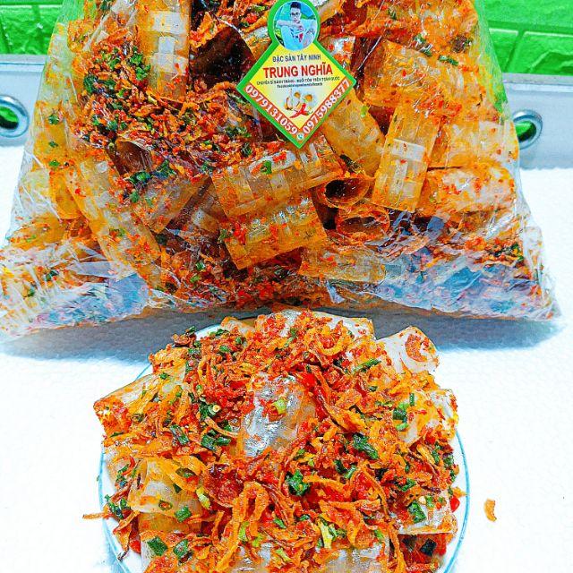 [Mã GRO2703 hoàn 12% xu đơn 250K] [500g]Bánh Tráng Trộn Ống sate Tôm .Trung Nghĩa
