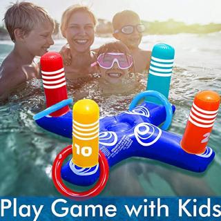 PVC Inflatable Children Throwing Ferrule Toys Parent-child Underwater Throwing Circle Game I7E0