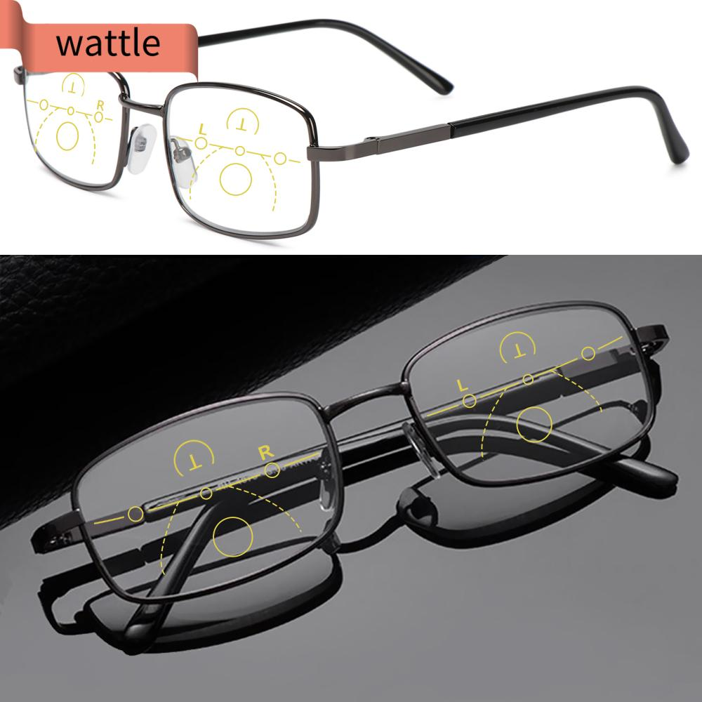 WATTLE Anti-fatigue Anti Blue Light Reading Glasses Anti-UV Computer Goggles Progressive Presbyopic Eyeglasses Men Women Fashion Anti-blue Rays Radiation Protection...