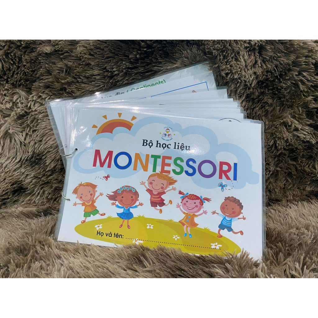 Học Liệu Montessori song ngữ bóc dán cho bé