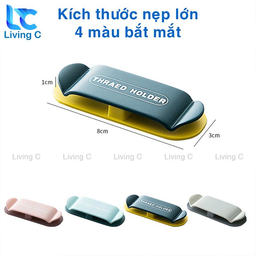 Nẹp dây điện chống rối Living C , móc dán tường treo dây điện phích cắm điện thoại dán tường _MCD
