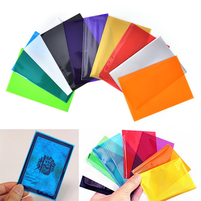 100Pcs Colorful Card Sleeves Cards Protector For Board Game Cards Magic Sleeves