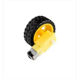 Bộ bánh xe có sẵn motor giảm tốc làm robocon 3v-6v