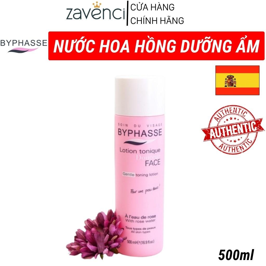 Nước hoa hồng NHH123887 BYPHASSE chiết xuất hoa hồng không cồn dành cho mọi loại da Gentle Toning Lotion (500ml)