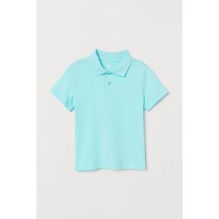 Áo polo xanh blue HM UK size bé lớn
