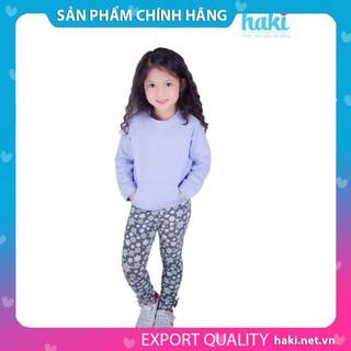Áo bé gái - nỉ da cá - Tím Haki, áo dài tay cho bé gái, áo xinh cho bé