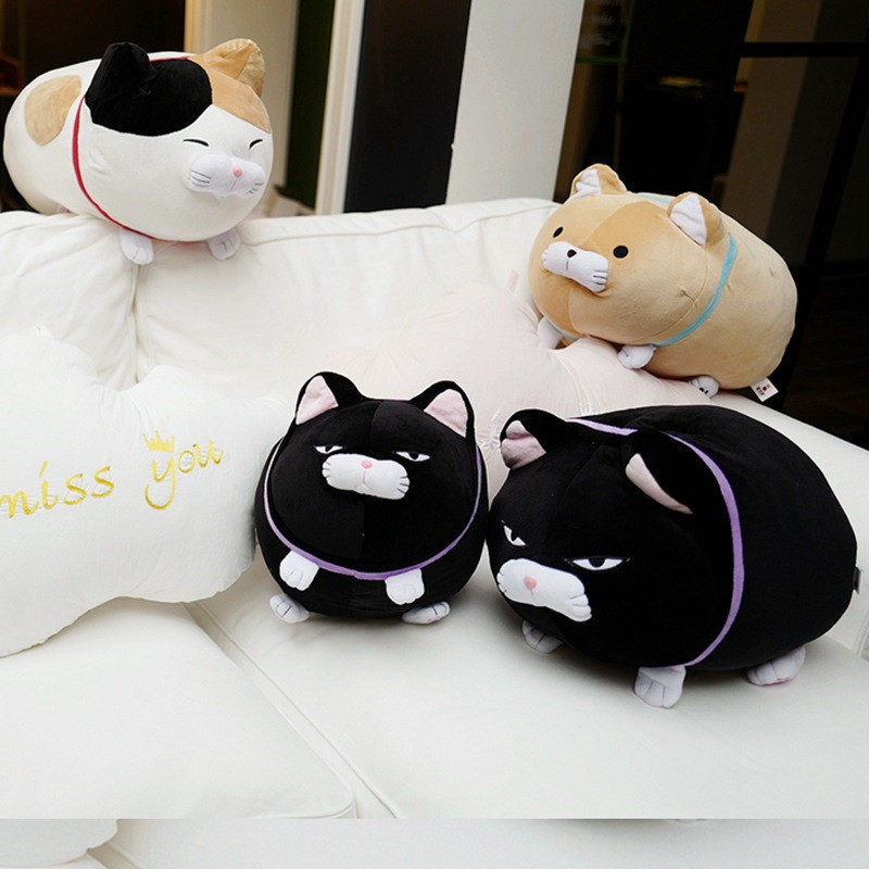 ขนฝ้ายท่าเคราบุญแมวของเล่นตุ๊กตาแมว lucky cat blessing แมว