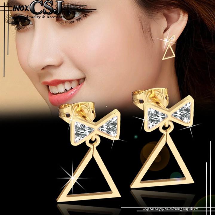 Bông tai inox nữ thời trang nơ cách điệu tam giác Hàn Quốc không đen (mạ vàng) - 14646339 , 593164333 , 322_593164333 , 100000 , Bong-tai-inox-nu-thoi-trang-no-cach-dieu-tam-giac-Han-Quoc-khong-den-ma-vang-322_593164333 , shopee.vn , Bông tai inox nữ thời trang nơ cách điệu tam giác Hàn Quốc không đen (mạ vàng)