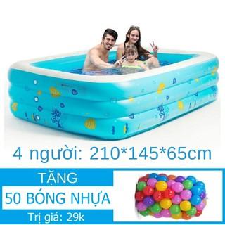 Nhà bóng Chữ nhật 3 tầng đủ size-lớn nhất 210x145xCao65cm Tặng 50 bóng kiêm Bể bơi Hồ bơi Phao bơi Nhà ban