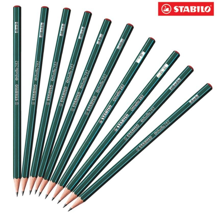 Bộ 10 cây bút chì gỗ STABILO Othello PC282-B10
