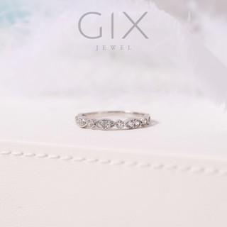 Nhẫn bạc đính đá xuyến chi nữ cao cấp Gix Jewel SPGN27 thumbnail