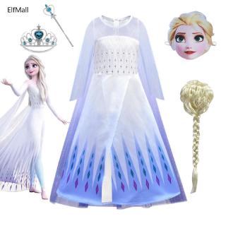 Bộ Đầm Hóa Trang Elsa 2 Mảnh Dành Cho Bé Gái Từ 3-10 Tuổi
