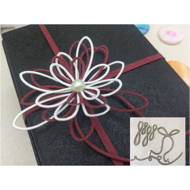 ✨tingmy✨6Pcs Bowknot Flower Leaf Punch Metal Cutting Dies Scrapbook Paper Craft Card