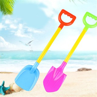 2Pcs Sand Beach Shovel Toys Children Colored Plastic Shovel Model For Kids Outdoor Fun Beach Tool 2 In 1 Demountable Toy