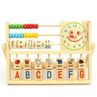 Children Baby Kids Learning Math Developmental Versatile Flap Abacus Wooden Toys