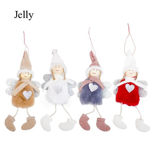 Cute Lovely Christmas Plush Dolls Hanging Ornaments Tree Decorations J70