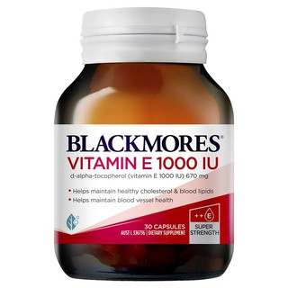 Blackmores Vitamin E 1000IU 30 Capsules – Vitamin E 30 viên (Úc)