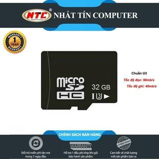 Thẻ nhớ microSDHC Noname 32GB UHS-I U3 hỗ trợ 4K - chuyên dụng camera IP (Đen)