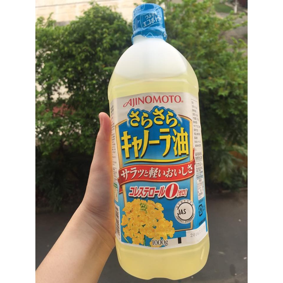 Dầu ăn hoa cải Ajnomoto 1000g Nhật Bản