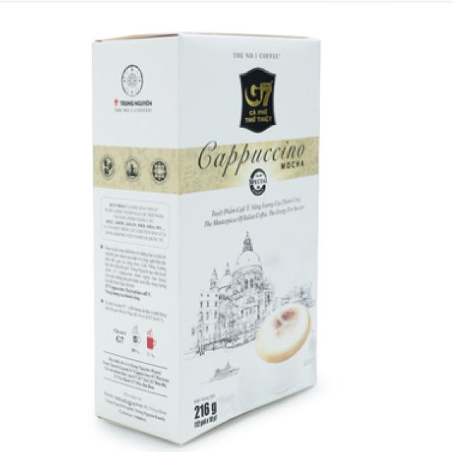 Cà phê cappuccino mocha G7 Trung Nguyên 216g - 2526744 , 955291204 , 322_955291204 , 85000 , Ca-phe-cappuccino-mocha-G7-Trung-Nguyen-216g-322_955291204 , shopee.vn , Cà phê cappuccino mocha G7 Trung Nguyên 216g