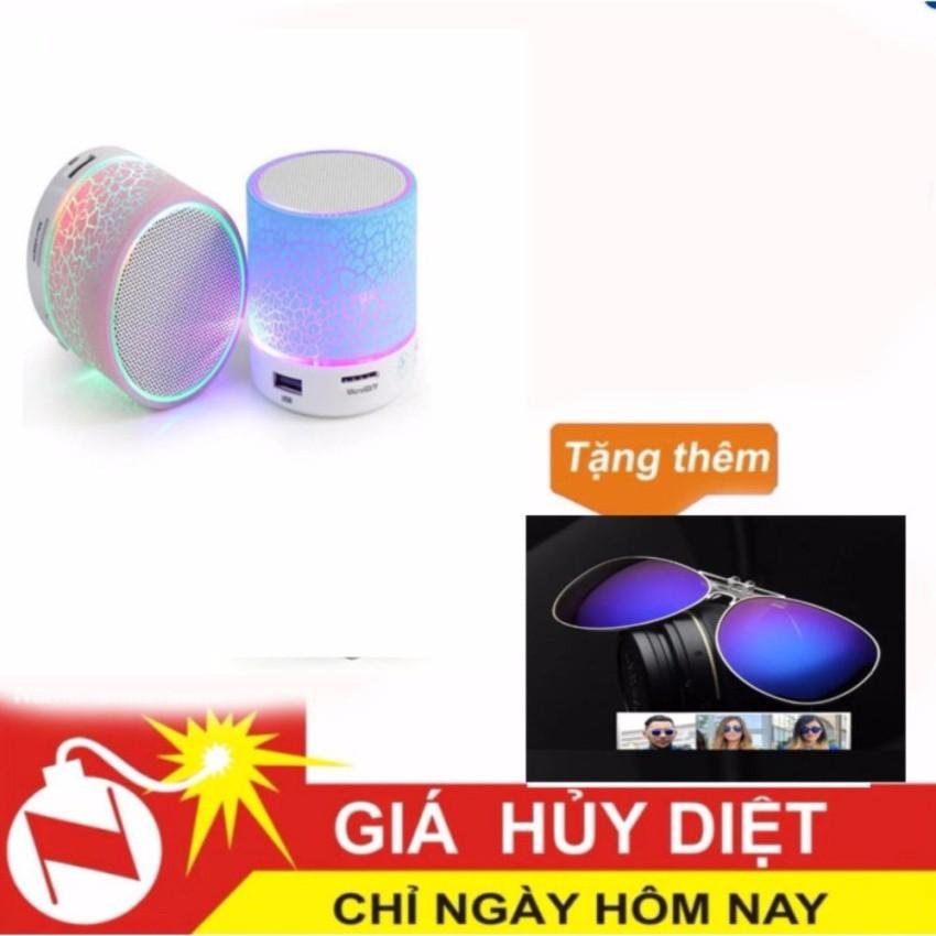 Loa Bluetooth HLD-600 đèn led nháy theo nhạc (trắng) tặng kínhtráng gương