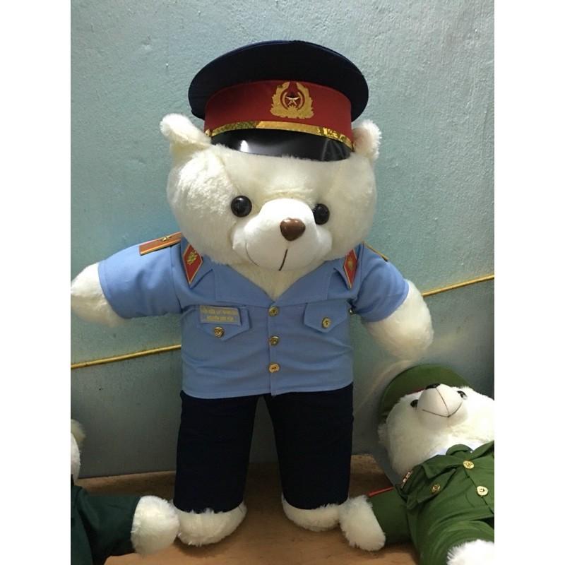 gấu bông kiểm sát viên ( in tên)