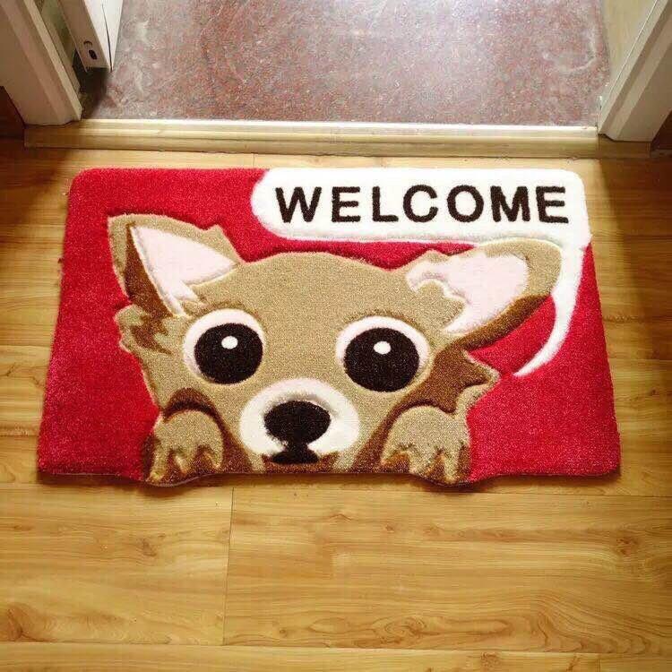 Thảm lau chân hình chó 3D
