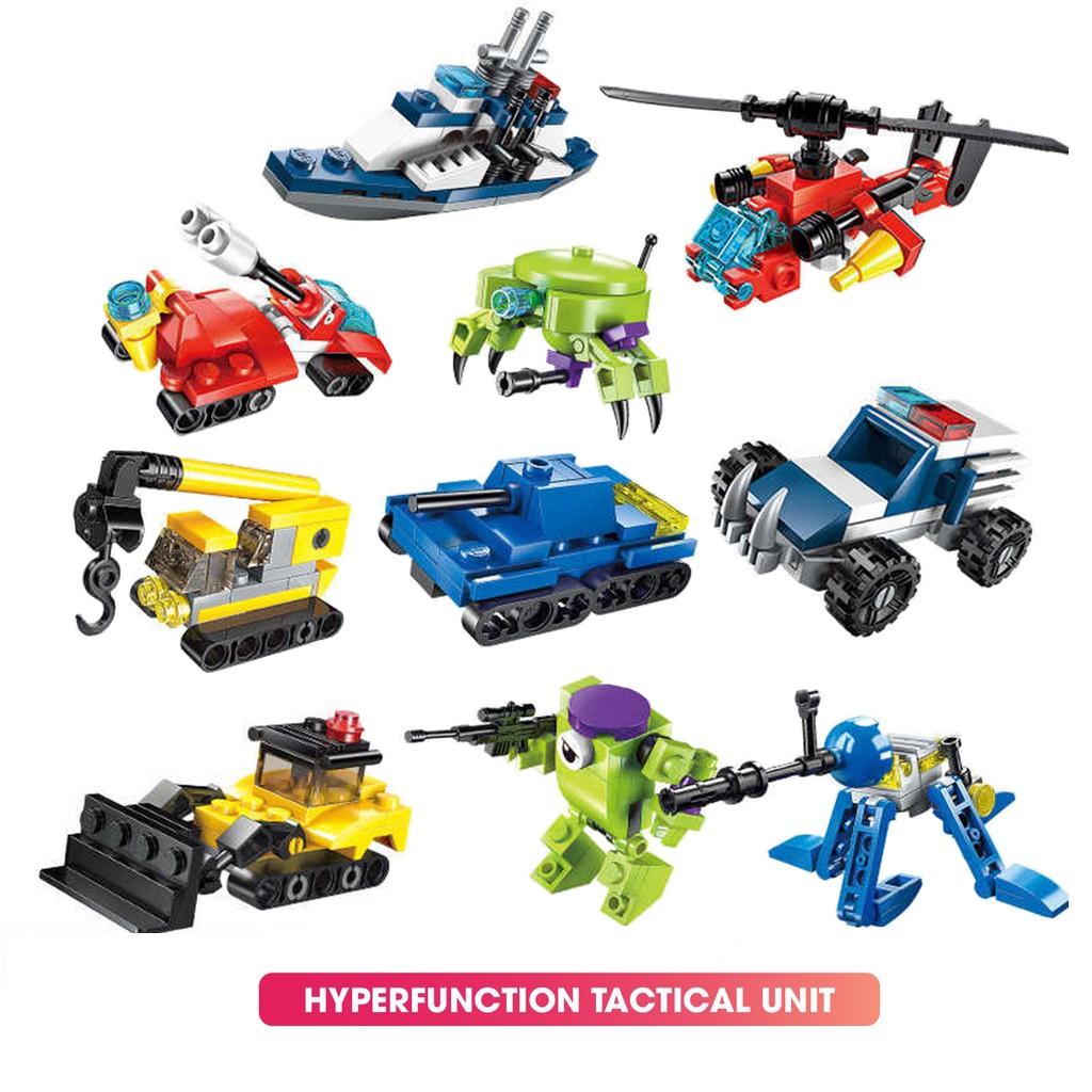 BỘ đồ chơi mô hình các loại xe phát triển trí tuệ 3in1