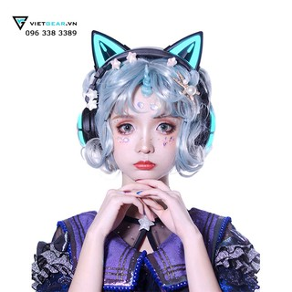 Tai nghe tai mèo Yowu Bluetooth 3.0 siêu phẩm led RGB