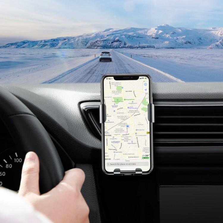 Giá đỡ điện thoại trên ô tô, xe hơi/ kiêm sạc không dây cao cấp chính hãng Baseus - Mã: WXYL-B0A - Hàng Nhập Khẩu