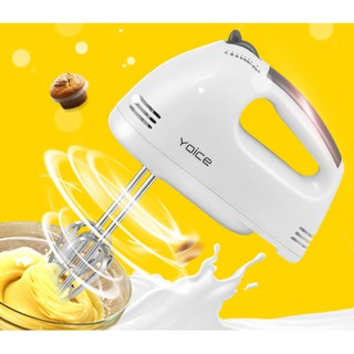 Máy đánh trứng cầm tay cao cấp Y-180, 7 cấp độ mạnh mẽ, chức năng trộn bột