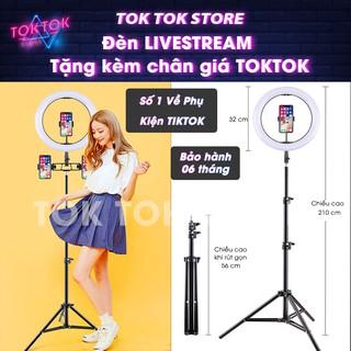 Đèn Livestream quay Tiktok, trợ sáng chụp hình. Hỗ trợ Makeup, Thâm mỹ, Trẻ hóa da bảo vệ mắt.