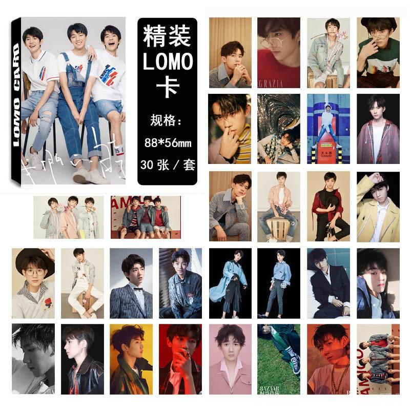Hộp LOMO Card TFBOYS, Khải, Thiên, Nguyên 30 tấm (lướt sang phải xem thêm ảnh)