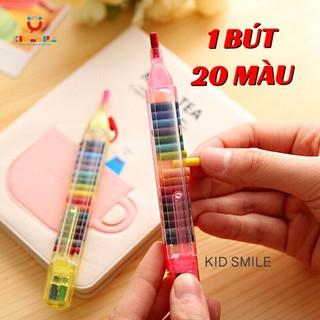 1 BÚT 20 MÀU bút sáp màu thông minh đầy đủ màu trên 1 bút tiện lợi, đáng yêu, dễ cất giữ và mang đi, đồ chơi cho trẻ em thumbnail