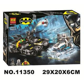 Đồ chơi lắp ráp lego minifigures nhân vật batman mô hình xe và robin Lari 11350.