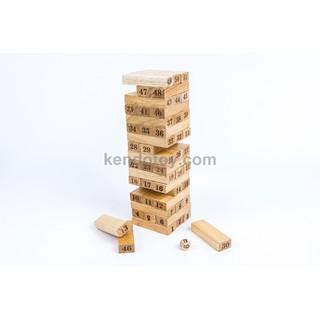 Trò chơi rút gỗ (rút tháp) đánh số đổ xí ngầu