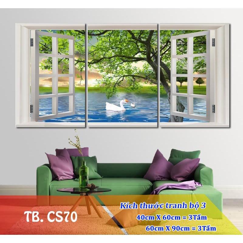 [SALE] Tranh treo tường cửa sổ 3D / Gỗ MDF cao cấp / Chống ẩm mốc
