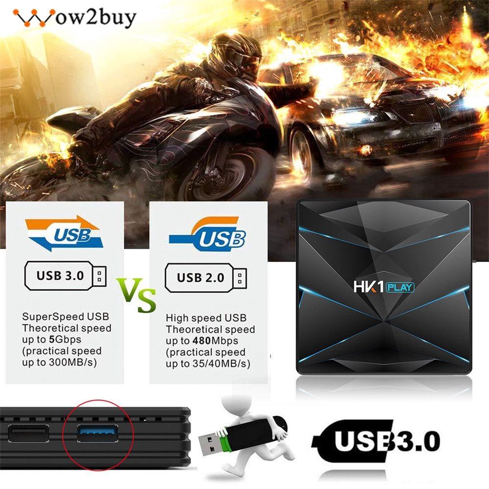 Bộ HK1 Play Android 9.0 TV Box S905X2 DDR4 2G 16G dùng chơi game tiện dụng