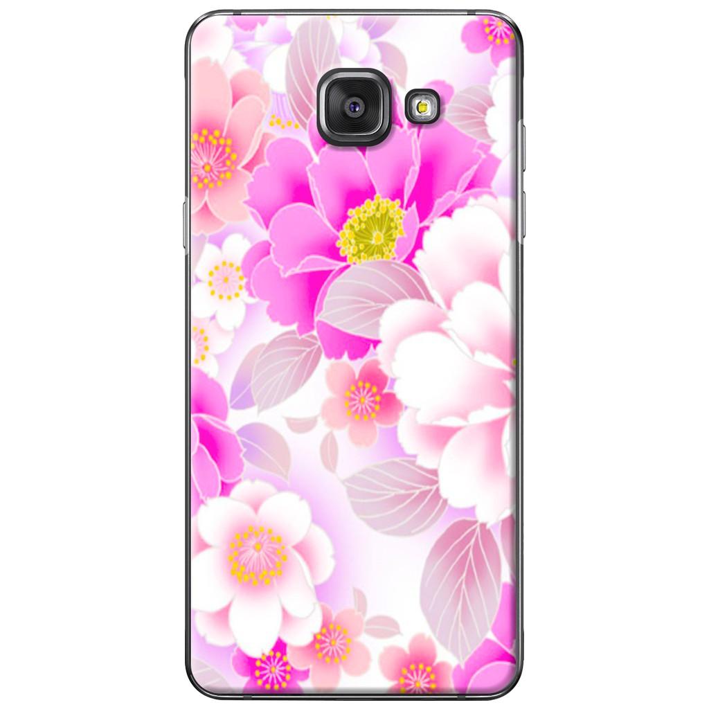Ốp lưng Samsung A3/A5/A7/A9 (2016) - Nhựa dẻo Hoa hồng phấn