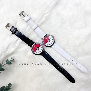 [I026] Đồng hồ bé trai bé gái thời trang mặt trắng đỏ