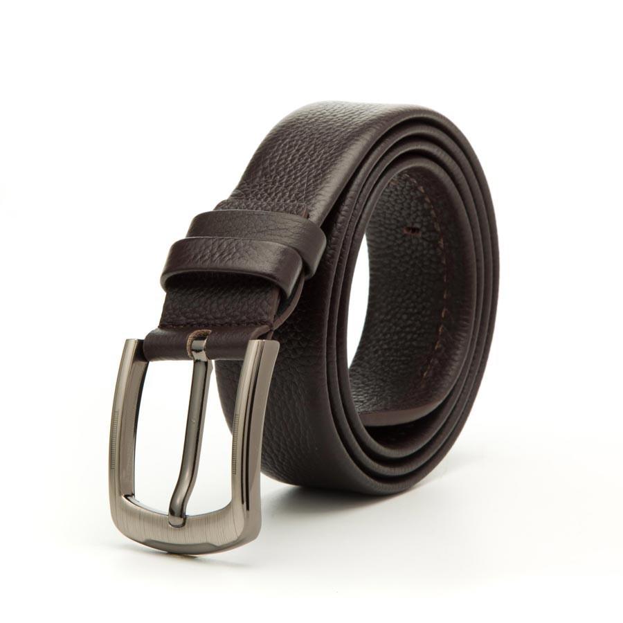 [Hoài Duy Shop] Thắt lưng nam da bò 4U thời trang T166 (đen - nâu) [Cam kết chất lượng]