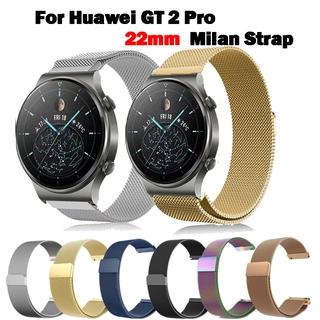 Vòng đeo tay thay thế dây đeo bằng thép không gỉ của Huawei GT2 Pro Dây đeo Milanese 22mm thumbnail